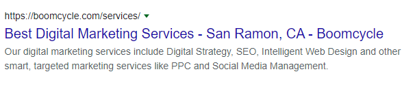 SERP preview in Google